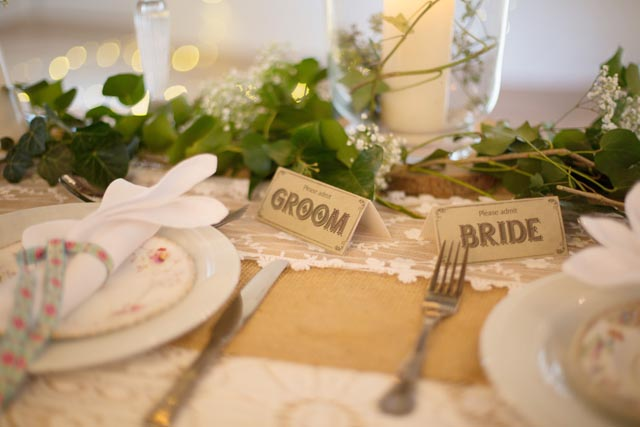 Milky Way Bride And Groom Table Setting Ideas