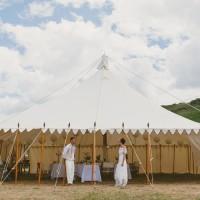 Outdoor wedding venues Devon Croyde marquee