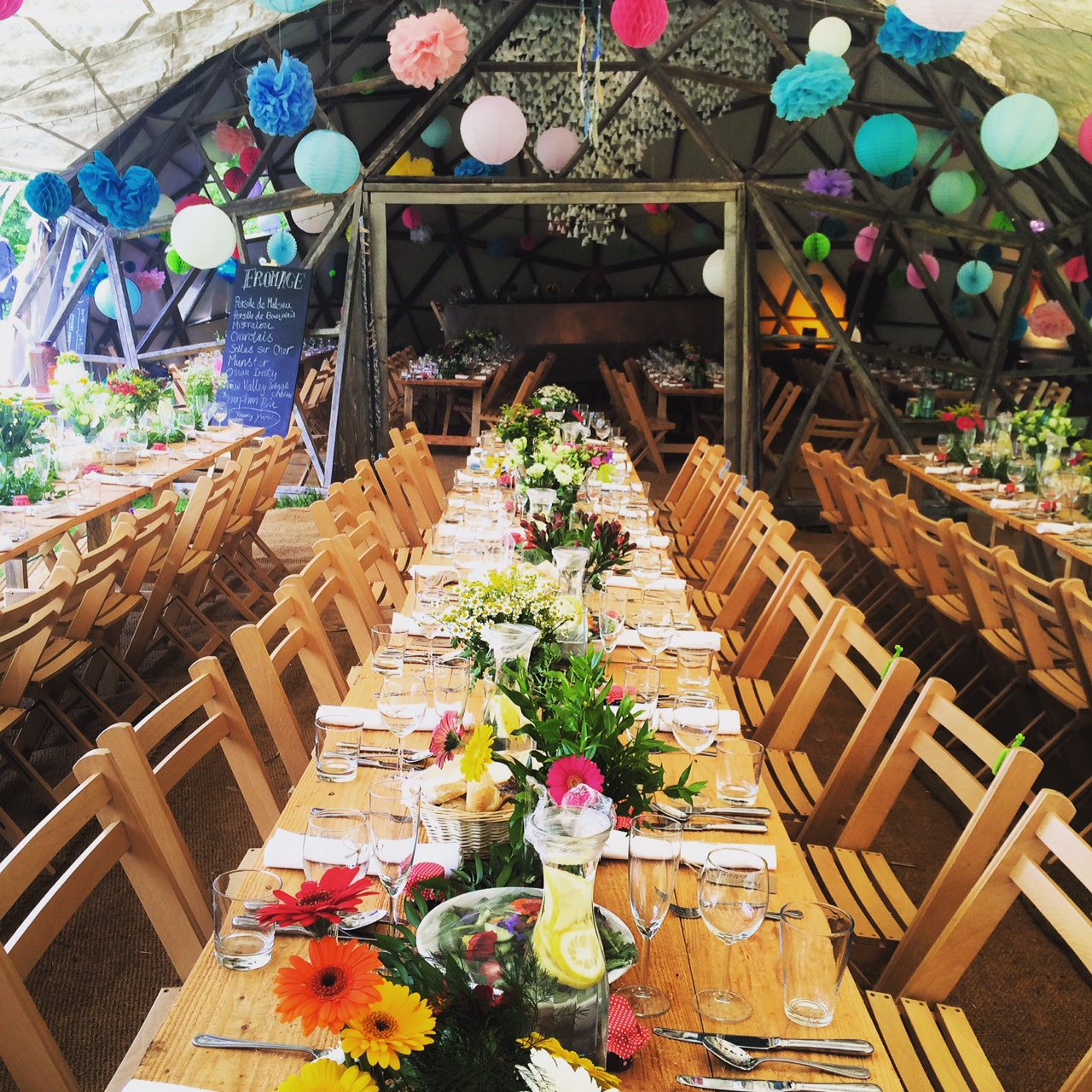 Venue Decorations: Rustic & Festival Wedding Venue North Devon