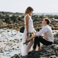 beach wedding north devon croyde 2