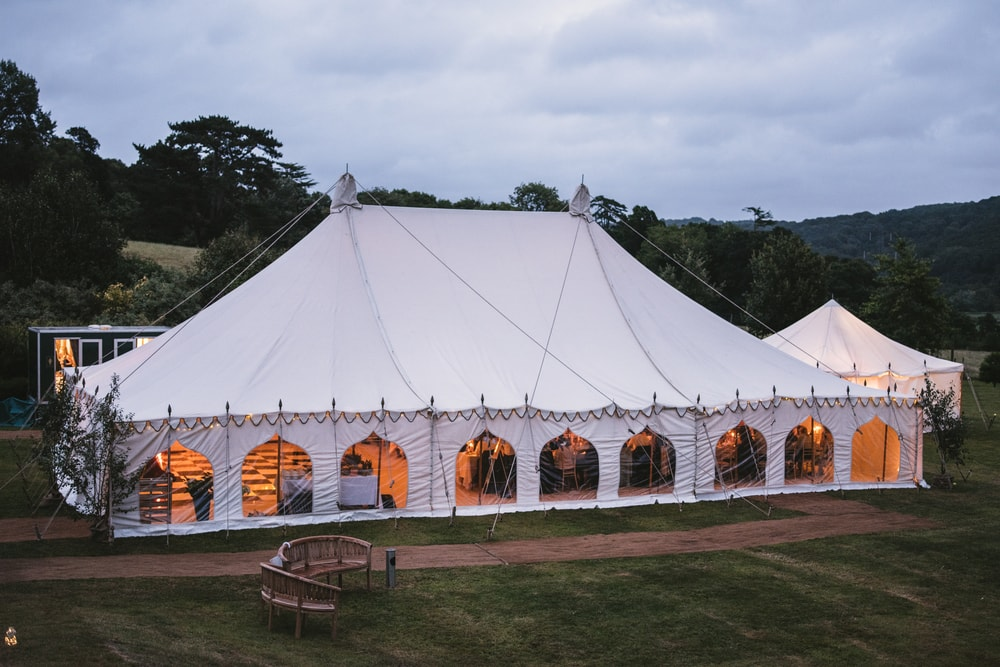 Marquee hire  styling Devon country house wedding 5
