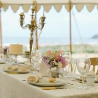 Outdoor wedding venues Devon Croyde marquee