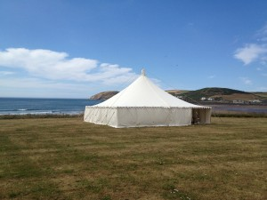 Outdoor wedding venues Devon Downend Croyde