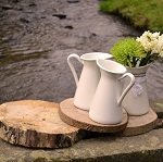 marquee-styling-devon-competition tree trunk table mats