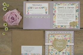 COUNTRY GARDEN WEDDING STATIONERY CLOSE UP 1