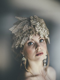 vintage wedding headdress