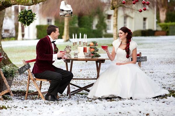 Winter weddings devon deer park 5