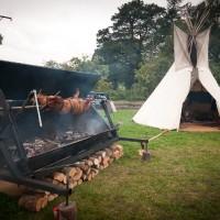 Festival wedding South West