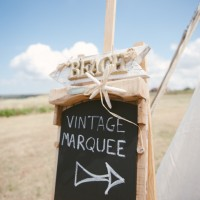 Vintage wedding marquee tent