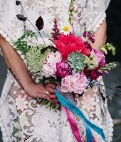 Boho wedding flowers devon somerset cornwall
