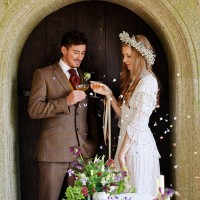 Boho wedding groom Devon, Cornwall, Somerset