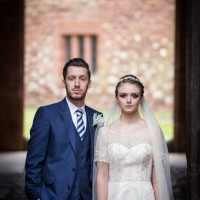 Bridal couple Mamhead House and Castle