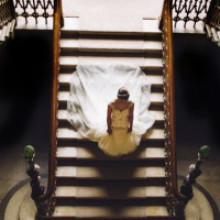 Grand staircase at Mamhead House and Castle