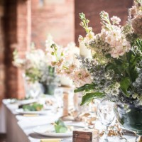 Table flowers at Mamhead House and Castle