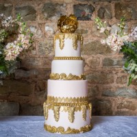 Majestic wedding cake at Mamhead House and Castle