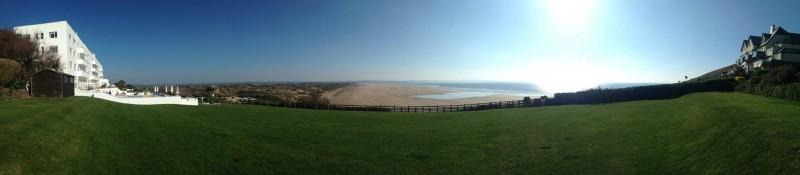 saunton sands panorama
