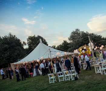 Sun-setting-on-wedding-party-Marquee-Hire-Slider - Tents & Events