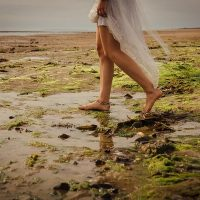 beach wedding north devon braunton crow point boho