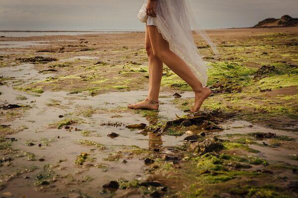 beach wedding north devon braunton crow point boho