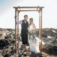 beachside wedding north devon