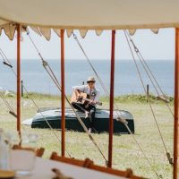 marquee beach wedding croyde devon