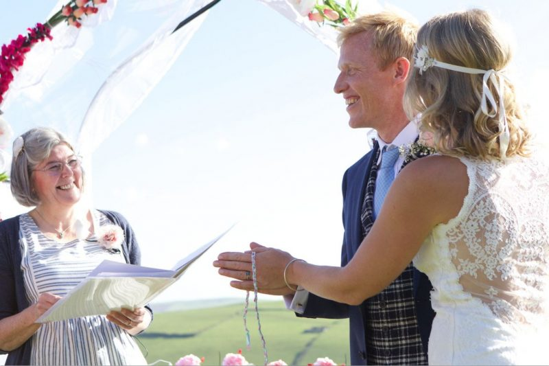 independent wedding ceremony in Devon & Cornwall credit charliedaviesphotography